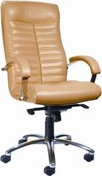 Кресло кожаное ORION хром