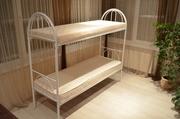 Кровати металлические двухъярусные для общежитий,  односпальные кровати для хостелов