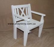 Кресла деревянные белые. Киев