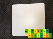 Столешница Белл,  квадратная,  толщина 40 мм,  70*70 см,  цвет белый