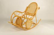 Кресло-качалка Свит CRUZO натуральный ротанг Мед  kk